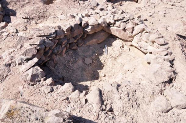 A close-up look at one of the pits in the Band of Holes.