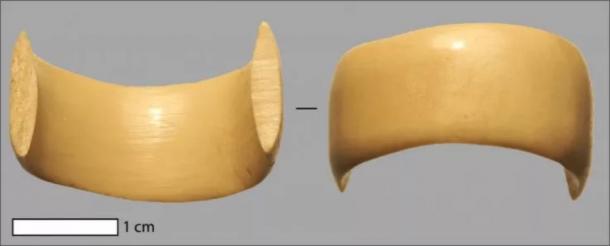 The ring has been determined to be made of deer or elk bone or antler. (University of Copenhage / Theis Jensen)