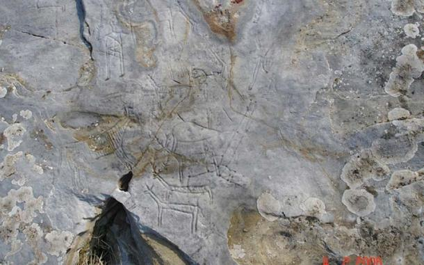 The rock carvings at Pangaion Hills before the vandalism. (Greece High Definition)