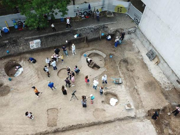 The site was found in land between two apartment blocks in Burgas. (RHM Burgas)