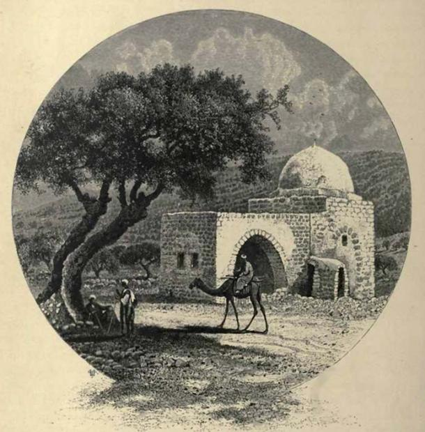 Popular imagery of the tomb depicting it as it appeared during the late 19th century.