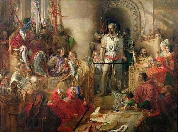 The Trial of William Wallace at Westminster by Daniel Maclise (1870) (Public Domain)