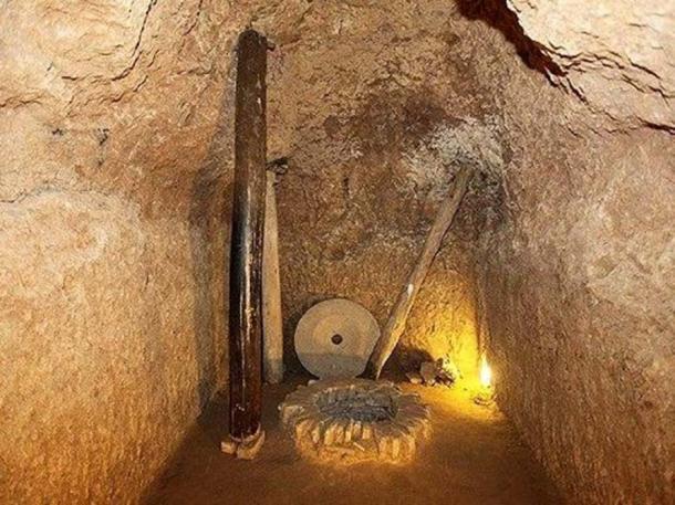 Artifacts found in the underground city of Nushabad, Iran.