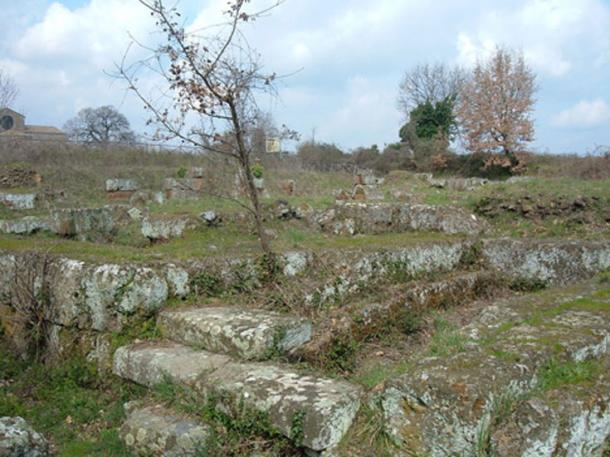 Remnants of the theater. Falerii Novi, Italy.