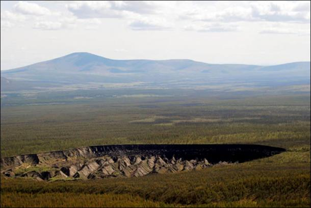 Such 'thermokarst depressions' can be observed in the north of Canada, but Batagaika is two-to-three times deeper. Pictures: Alexander Gabyshev, Research Institute of Applied Ecology of the North