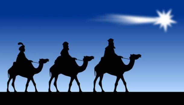 The three Magi and the Star of Bethlehem. (CC0)