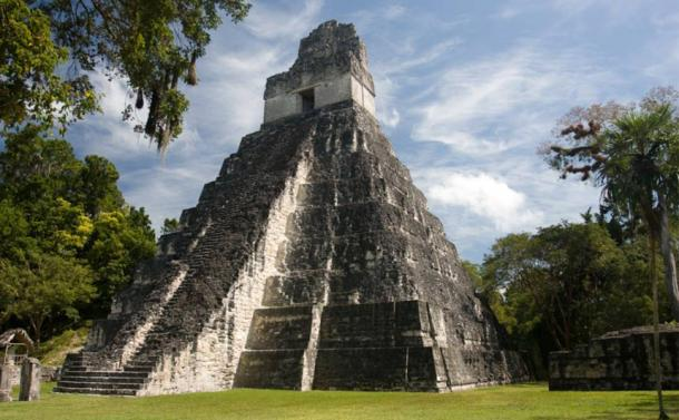 Tikal consists of great monumental structures like this temple in the Grand Plaza