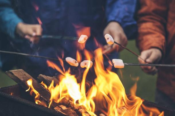What could be better than an intimate celebration toasting marshmallows over a bonfire?