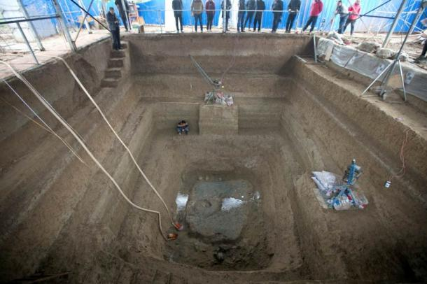 The newly-discovered tomb in Luoyong city.