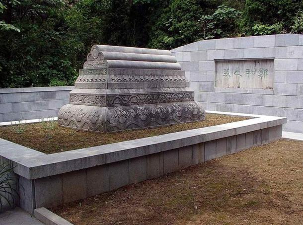 Photo of a tomb in Nanjing located near the museum devoted to Zheng He.