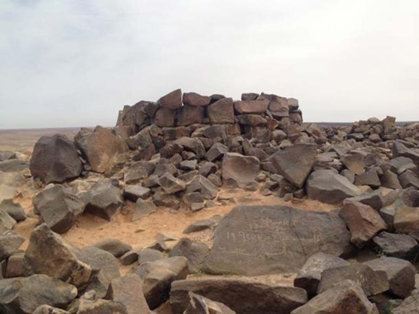 A tomb in the Jebel Qurma desert region of Jordan.