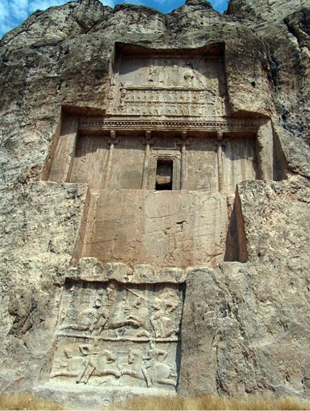 The tomb of Darius I at Naqsh-e Rustam