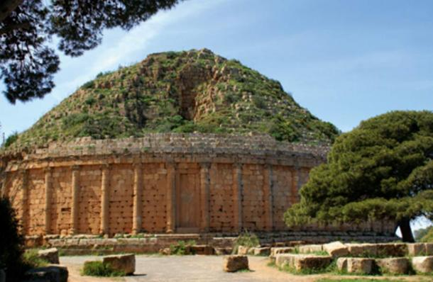 The tomb of Juba II and his wife Cleopatra Selene II in Tipaza, Algeria