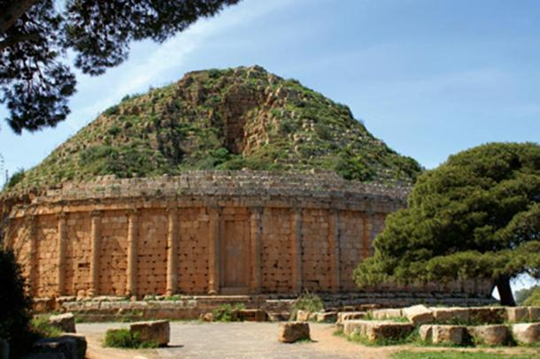The tomb of Juba II and his wife Cleopatra Selene II in Tipaza, Algeria