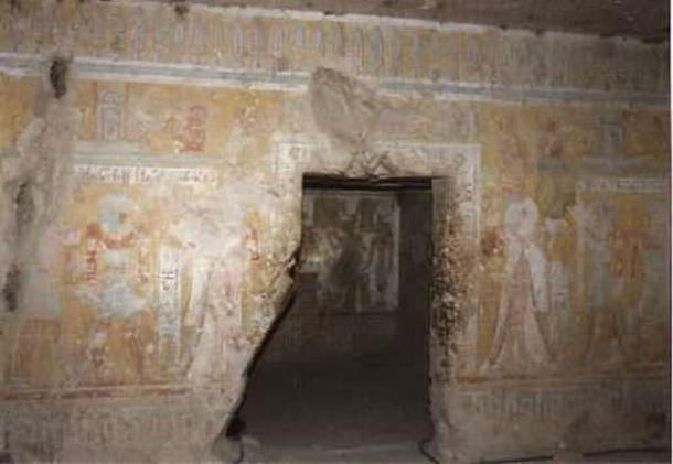 Entrance to the tomb of Tyti.
