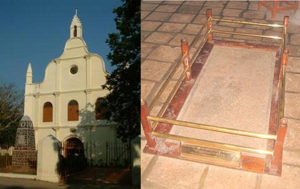 St. Francis Church and Vasco da Gama's first tomb in Kochi.