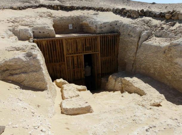 The entrance to the southern tombs at Amaran