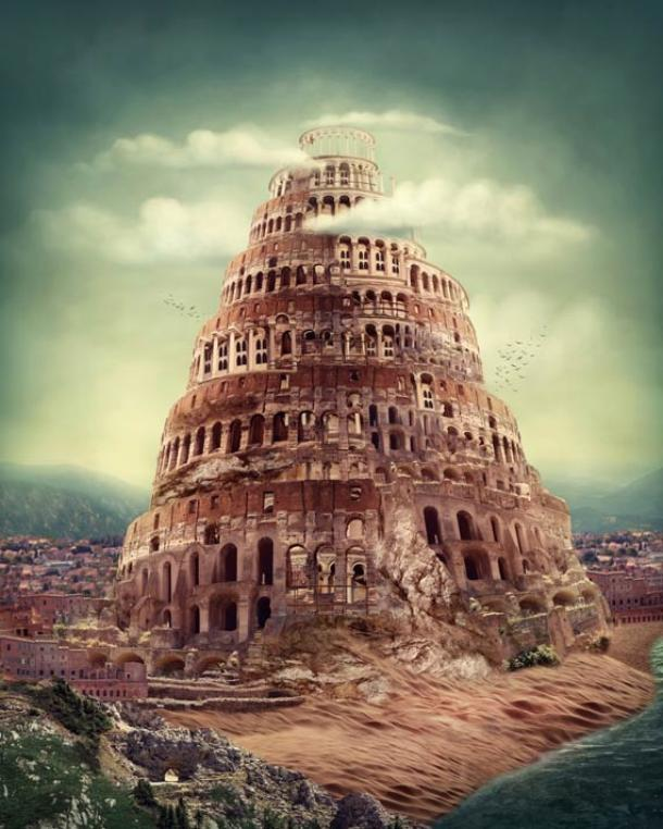 There are widespread mythological parallels relating a story to that of the Tower of Babel