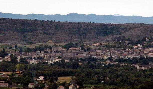 The town of Joyeuse in Ardèche, France