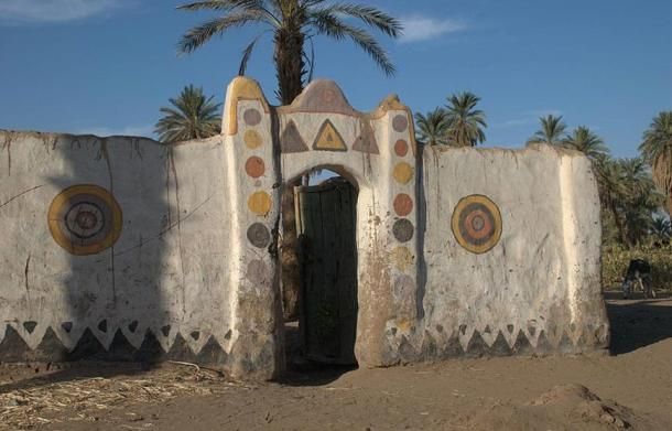 Last of the traditional Nubian houses, Dongola, Sudan