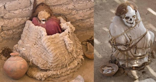 Examples of traditional ancient Peruvian burials.