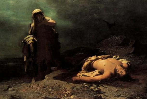 The Ancient Greeks created a new art form, the tragedy, of which Sophocles was a master. This painting is inspired by one of his famed characters, Antigone, and was created by Nikiforos Lytras in 1865