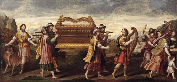 'The transfer of the ark by the singing and dancing King David.'