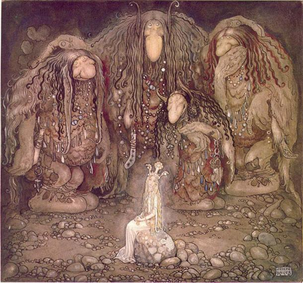 Look at them, troll mother said. Look at my sons! You won't find more beautiful trolls on this side of the moon. (1915) by John Bauer. (Public Domain)