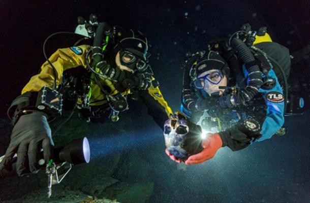 Descubrimiento bajo el agua en la cueva sumergida mexicana ofrece entrever primeros americanos