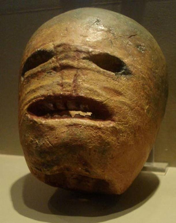 A traditional turnip Jack-o'-lantern from the early 20th century.