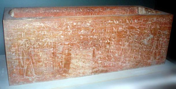 One of the two sarcophagi found in KV20, originally intended for Hatshepsut, but re-inscribed for her father Thutmose I. By Keith Schengili-Roberts.