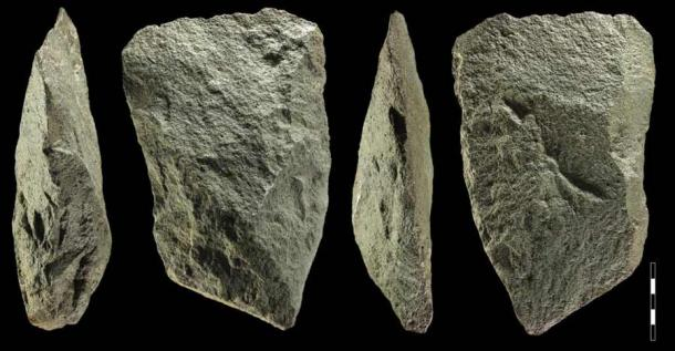 Stone Age Homo Erectus two-sided cleavers tools found at the Sudan mine site by Polish archaeologists, which are likely the oldest tools ever found in the eastern Sahara region. (Science in Poland)