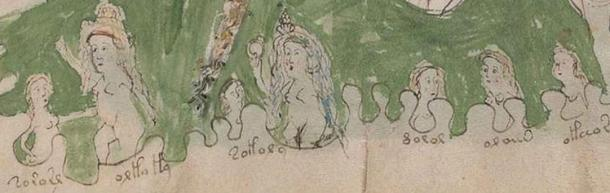 This shows two women dealing with five children in a bath
