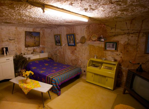 An underground home in Coober Pedy