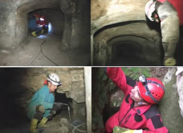 Exploring the underground tunnels beneath the Hagia Sophia.