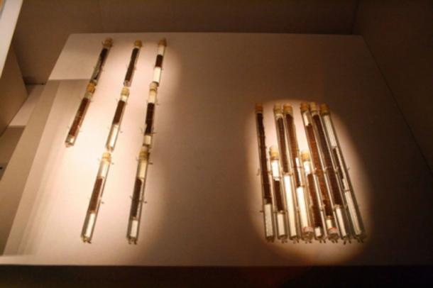 "The unearthed Bamboo slips of the manual dubbed ""Art of War"" discovered in 1972 in the what is now Shandong Province."