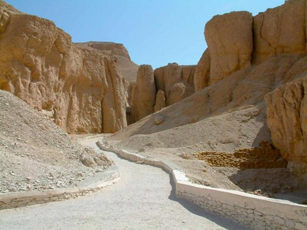 The Valley of the Kings, on the west-bank at Thebes.