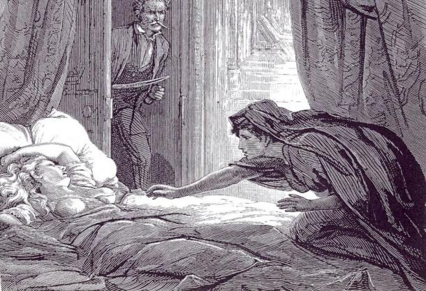 Artwork based on Sheridan le Fanu's 'Carmilla', an early influential work of vampire literature.