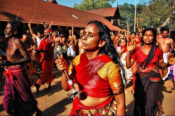 The velichappadu photographed by Challiyil Eswaramangalath Pavithran Vipin.