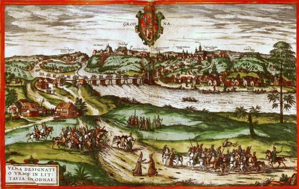 A 16th-century view of Grodno.