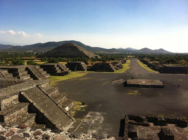 A view of Teotihuacan.
