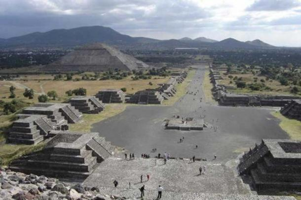 A view of Teotihuacan, Mexico.