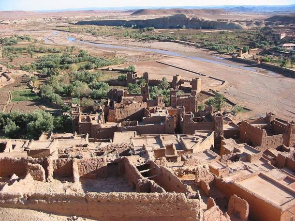 Bird's eye view of the Ksar of Ait-Ben-Haddou