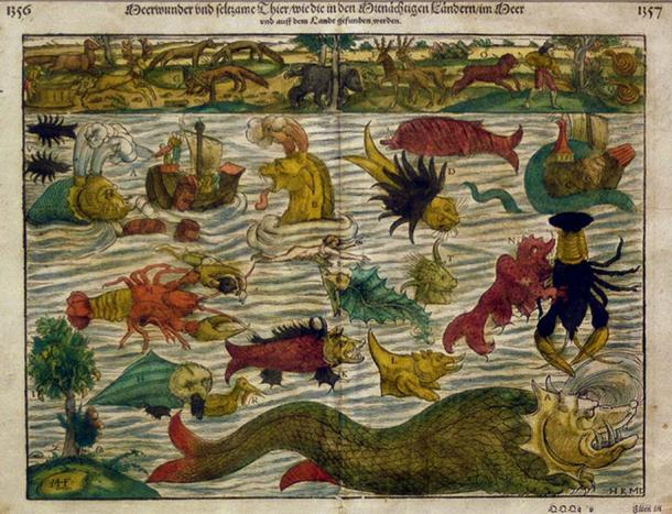 Taken from the vignettes on Olaus Magnus's Carta marina, Basel c. 1544