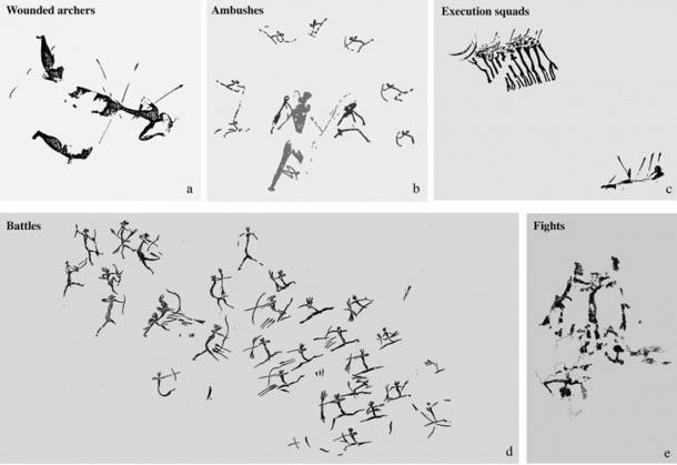 Types of violence in Neolithic cave art in eastern Spain