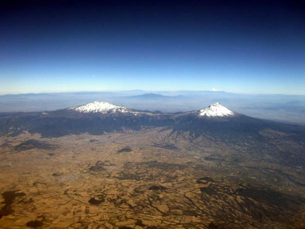Popocatépetl and Iztaccíhuatl in Mexico.