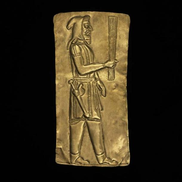 One of the votive plaques.