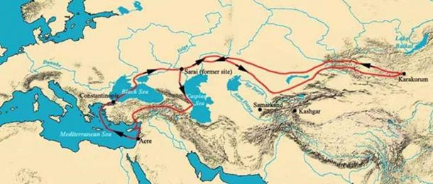 The voyage of William of Rubruck in 1253–1255. Franciscan missionary and explorer, he documented details of the Mongol Empire
