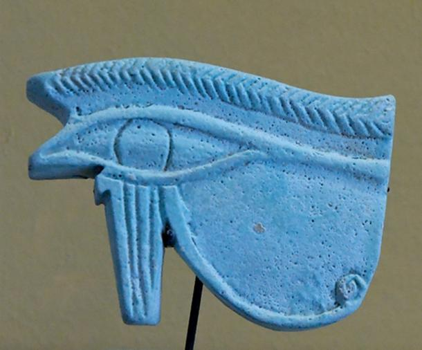 A wadjet amulet of ancient Egypt