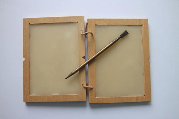 Example of a wax tablet with Roman stylus